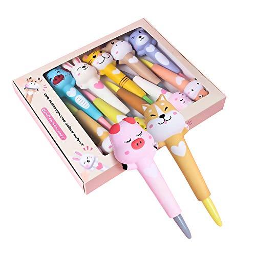 12ピース署名ペンのセットかわいい干支文房具油性ボールペン人気のニュートラルボールペン多機能ペン学生子供誕生日プレゼント小学校高校生入口書き込みツール5ミリメートル