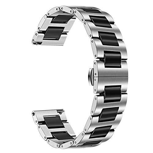 TRUMiRR Kompatibel mit Galaxy Watch3 41mm/Galaxy Watch 42mm/Galaxy Watch Active2/Galaxy Watch Active Armband,20mm Keramik Uhrenarmband Schnellspanner Ersatzband für Garmin Vivoactive 3