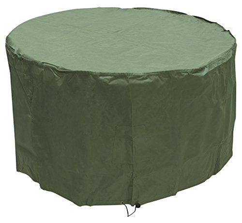 Woodside Green 4-6 Seater Round Waterproof Outdoor Garden Patio Table Cover Heavy Duty 600D Material 0.72m x 1.3m/2.4ft x 4.3ft 5 YEAR GUARANTEE