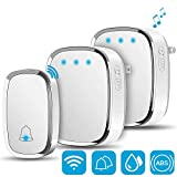 Wireless Doorbell,Yostyle Waterproof Doorbell with LED Flash 1000 Feet Operating Range,1 Remote Button