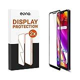 Eono - Cristal Protector 3D [2 Unidades] Compatible con [LG G7/G7 ThinQ] – Cristal Protector con 100% Cobertura de Pantalla contra roturas – 9H, Pantalla Completa