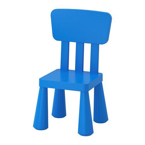 "IKEA Kinderstuhl\""MAMMUT\"" Kindermöbel Stuhl in kräftigem BLAU aus unbedenklichem Kunststoff - BxTxH: 39x36xx67cm"