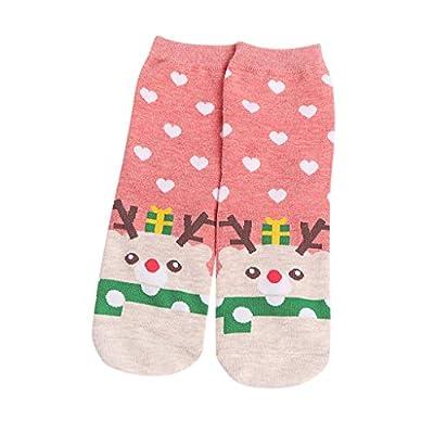 UOFOCO Women Christmas Casual Cute Home Floor Cotton Mid Socks