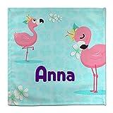 Lolapix Tovagliolo Flamingo Personalizzato con Nome/Corso | Ritorno a Scuola | Vari Disegni | Flamingo