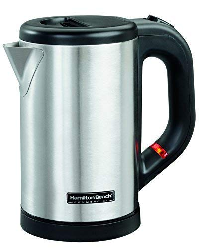 Hamilton Beach Commercial Hospitality 0.5 Liter Stainless Steel Electric Hot Water Tea Kettle HKE050