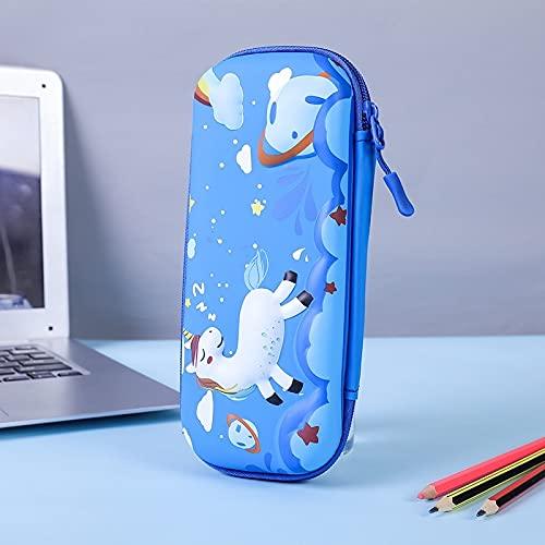 NYSYZSM Estuche de plástico estéreo 3D para lápices, estuche escolar de plástico para lápices, para niñas, estuche para bolígrafos, estuche para estudiantes, 23 x 10 cm, A6