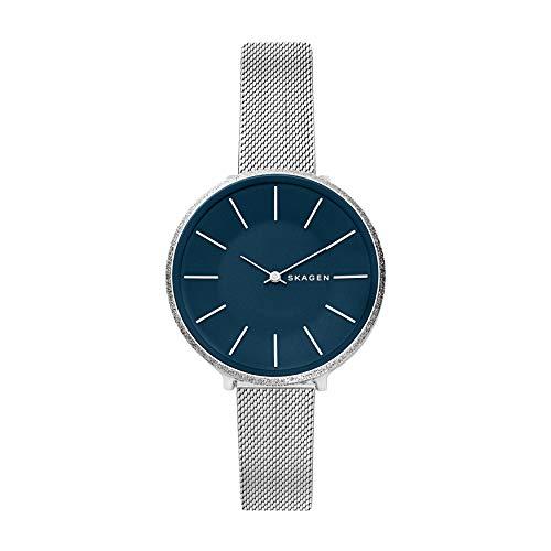 Skagen Damen Analog Quarz Uhr mit Edelstahl Armband SKW2725