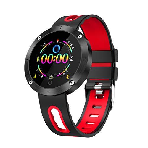 Hartslag Bluetooth 4.0 Oplaadbaar horloge IP68 Waterdicht touchscreen Bloeddruk Smartwatch