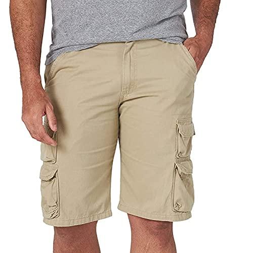 Shorts Deportivos Hombre con Bolsillos Pantalones Cortos de Trabajo Color Liso Pantalon Corto de Verano para Hombres Pantalones Cortos Hombre Suelta y Cómodo Shorts Casual Verano