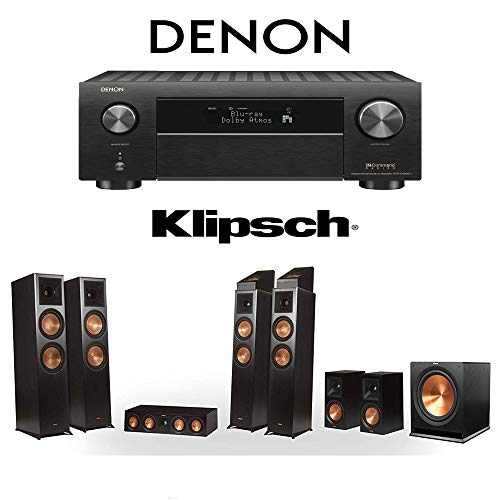 Best Price Klipsch RP-8060FA 7.1.4 Dolby Atmos Home Theater System with Denon AVR-X4500H 9.2-Channel...