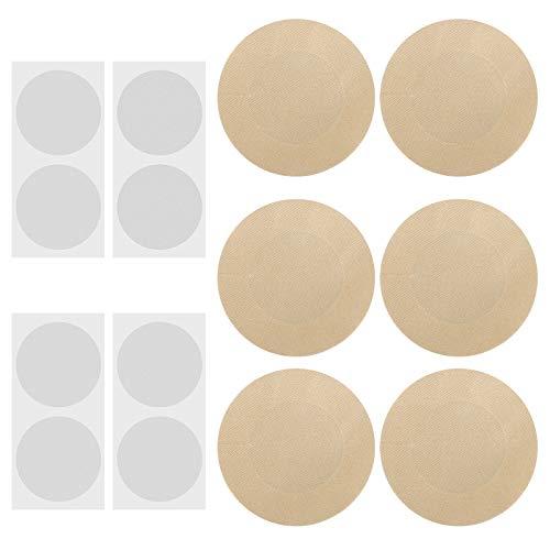 LAITER 100 Pcs Caches-Tétons en Couleur de Peau et 100 Pcs Covres Tétons Invisibles Transparents Protection Mamelon Jetable pour Homme Rond Couver Nipple...