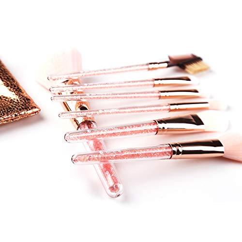 7pcs crystle maquillage pinceau fondation pinceaux cosmétiques synthétique kabuki lèvres fard à paupières eyeliner visage blush Brosse à maquillage XXYHYQ