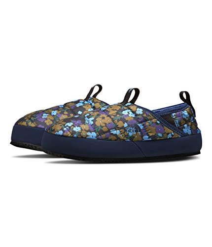 The North Face Youth Thermoball Eco Traction Mule II, TNF Navy Wildflowers Print/TNF Navy, 7