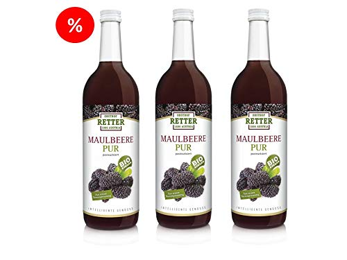 5+1 Fl. BIO Maulbeere pur, 100% Direktsaft 750 ml