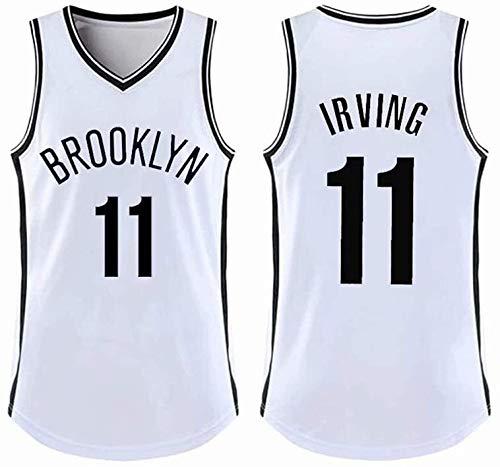 Ropa de Baloncesto for Kyrie Irving Hombres de la Ropa # 11 Celtics Mangas de Baloncesto, Baloncesto Jersey sin Mangas de Deportes al Aire Libre de Fitness XS-5XL (Color : White1, Size : X-Large)