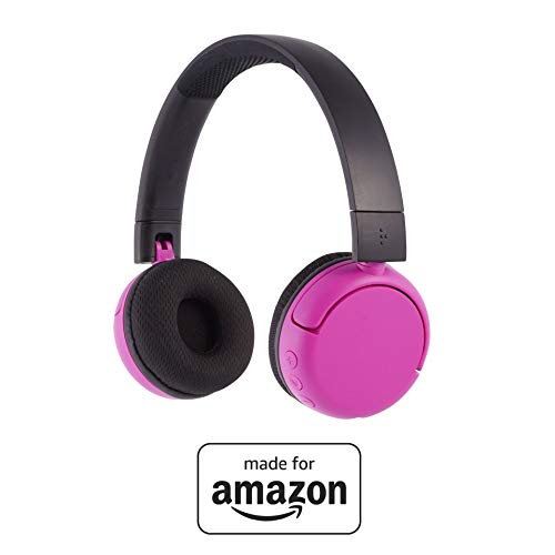 All New, Made for Amazon, Volume Limiting Bluetooth BuddyPhones, PopTime in Pink. Ages (8-15)