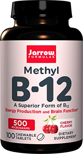 Jarrow Formulas Methyl B-12, 500Mcg - 100 Lozenges - 100 Cápsulas