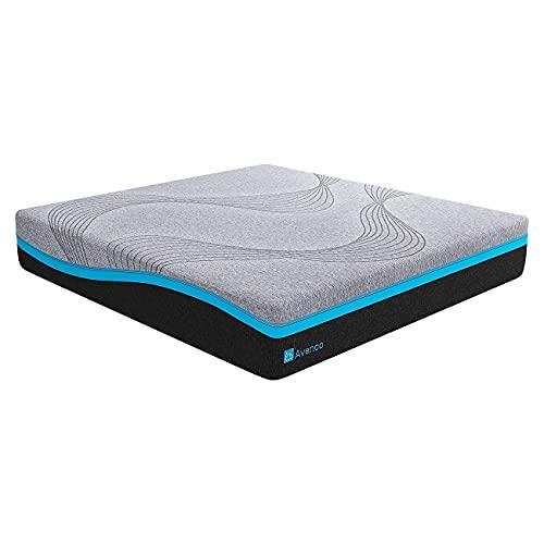 Avenco マットレス シングル 低反発マットレス ベットマット 極厚21cm ベッドマットレス 圧縮梱包 こだわり中材 通気性高い カバー洗濯可 97*195*21cm