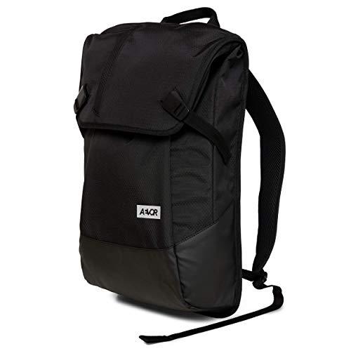 AEVOR Daypack Proof - erweiterbarer Rucksack, wasserfest, ergonomisch, Laptopfach, Black