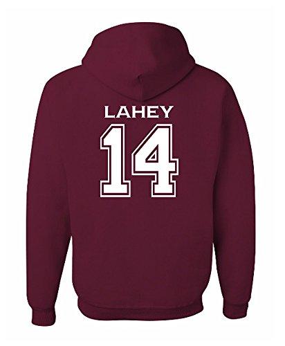 Adult Lahey 14 Beacon Hills Lacrosse 2-Sided Hoodie (XXX-Large, Maroon)