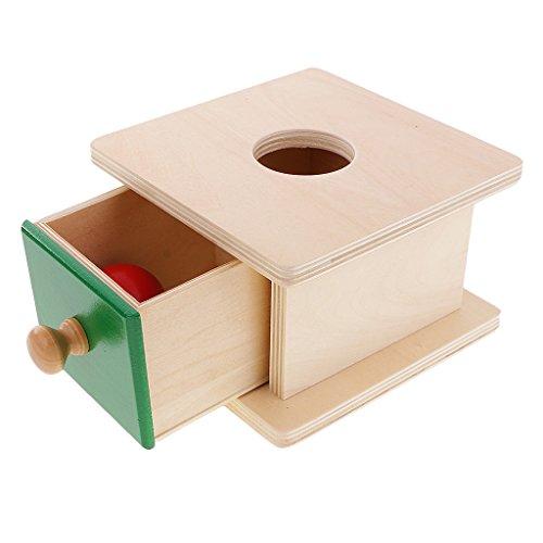 Sharplace Materiale Montessori Scatola Da Infilare Di Legno Giochi Educativi Per Bambini Geometria Cubo Pallina Rubrica Cilindro - Sfera