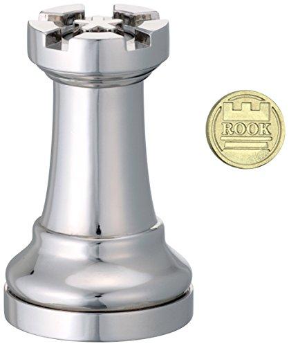 Eureka- Gioco di Scacchi Rook Cast, Colore Argento, 473682