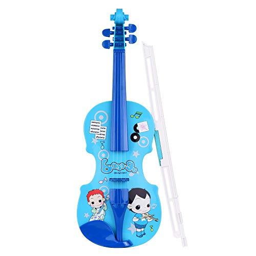 YINGGEXU Violín eléctrico para niños, pequeño violín con arco de violín, instrumentos...