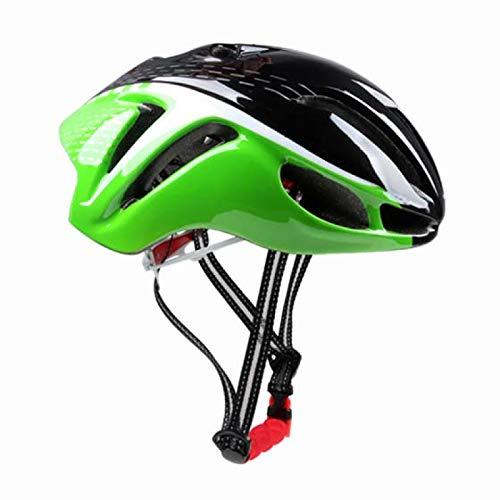Casque Velo Adulte SFBBBOCasque de vélo Casque de vélo de sécurité Confortable réglable moulé intégralement Casque de vélo VTT Robuste Noir Vert