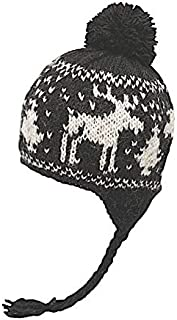 Kid's Warm Winter Wool Knit North Pom Beanie | Ethical Fair Trade Production | Handmade in Nepal