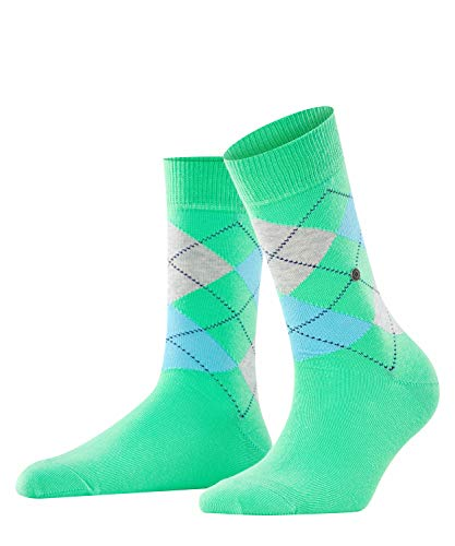 Burlington Damen Queen W SO Socken, Blickdicht, grün (Jade Cream 7185), 36-41