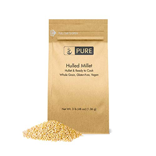 Hulled Millet (3 lbs) by PURE, Gluten-Free, Whole Grain, High in Fiber, Protein-Rich, Healthy Substitute for Rice