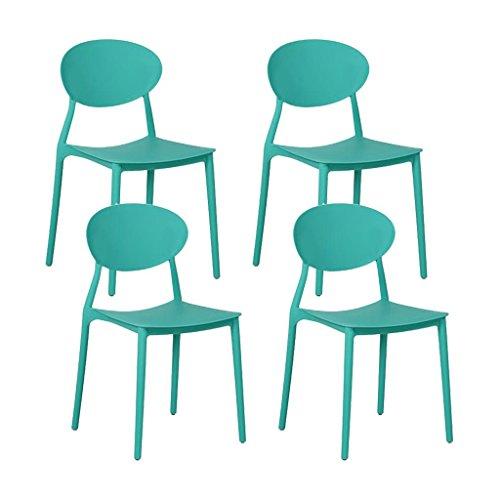 MEGA lot de 4 chaises en PP empilable 48x48x81cm VERT