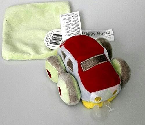 Mots d'Enfants - Peluches et doudous - Doudou voiture rouge et verte et son mouchoir plat carré - 24 x 6 cm - Genre : bébé fille garçon - 130782