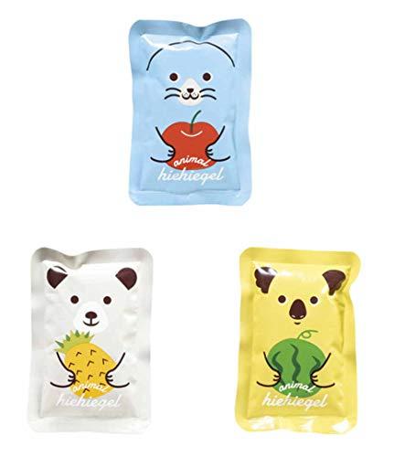 アニマル 動物 冷え冷え ソフトタイプ 保冷剤 真夏のクールダウンに かわいい動物3種セット(アザラシ クマ...