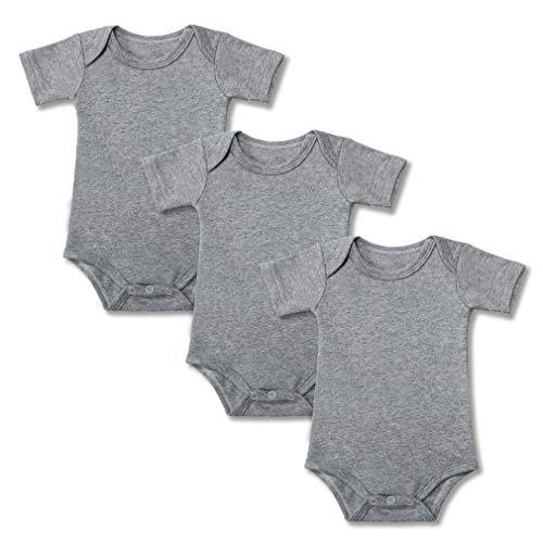 Ropa de una Pieza para Bebé Mameluco Canastilla Traje Recién Nacido Pack-3 Gris 12-18 Mes