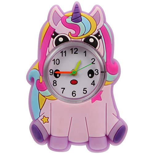 iplusmile Kid' s Cartoon Unicorn Slap Bracelet Silicone Strap Quartz Watch Educational Toys
