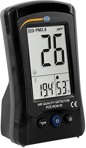 PCE Instruments Feinstaubmessgerät PCE-RCM 05 für Staubmessung am Arbeitsplatz/Temperatur und Luftfeuchtigkeit/Akkubetrieb/Warnfunktionen