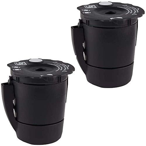 Cofe Reusable Coffee Filter compatible with Keurig My K-Cup 1.0&2.0 all Keurig home Coffee makers (black, 2pcs/pack)