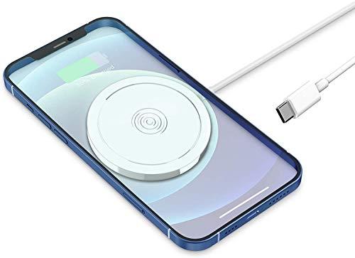 Hoidokly Magnetische Wireless Charger, 15W Kabellos Ladegerät Qi Induktive Ladestation Kompatibel mit iPhone 12/12 Mini/12 Pro/12 Pro Max, AirPods Pro/2 (Kein PD Ladegerät)