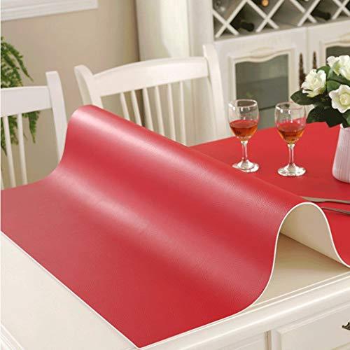 GZQDX Protector de Mesa, manteles a Prueba de Aceite, de plástico Transparente, decoración de Escritorio for la Mesa de la Cocina (Color : B)