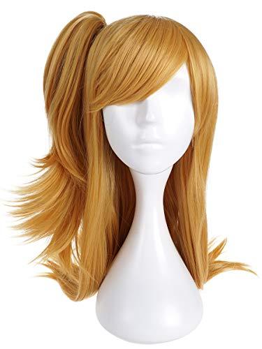 Perruque Cosplay de Lucy Heartfilia pour Fans de Fairy Tail | Couleur: Blond avec Couette de côté