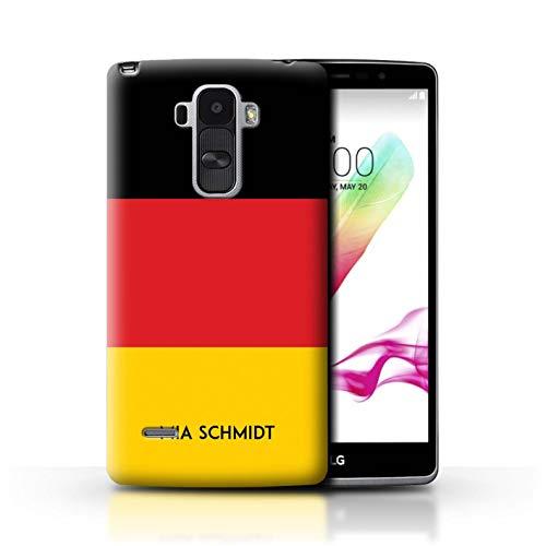 eSwish Personalisiert Individuell National Nation Flagge Hülle für LG G4 Stylus/Deutsches/Deutschland Design/Initiale/Name/Text Schutzhülle/Case/Etui