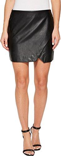 Blank NYC Black Vegan Leather Mini Skirt in Black Ice Black Ice 30