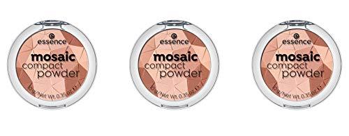 essence mosaic compact powder, Puder, Nr. 01 sunkissed beauty, nude, für Mischhaut, für trockene...