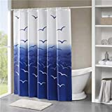 Furnily 3D Duschvorhang Lebhafte schöner Baum Polyester wasserdichter Form Badezimmer-Vorhang