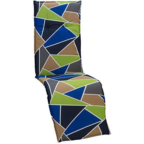 beo Coussin de Chaise de Jardin Coussin pour Relax Design Graphique Multicolore Env. 175 x 48 x 6 cm