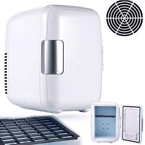 DSMGLRBGZ Nevera Pequeña, Mini Nevera Congelador Pequeño 4L 12V Mini Auto Refrigerador para Enfriador Más Cálido Familia Oficina Congelador Protección De La Piel,C