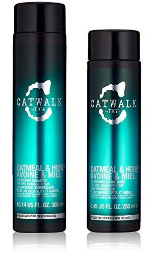 Tigi Catwalk Oatmeal & Honey Shampoo + Conditioner, Haferflocken und Honig, Duo-Set, 250 ml und 300 ml