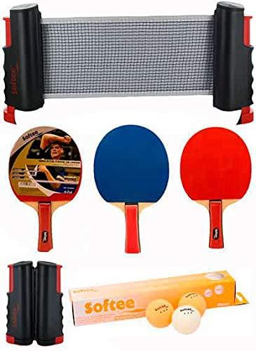 Softee Equipment Super Set Ping Pong Negro Naranja - Negro