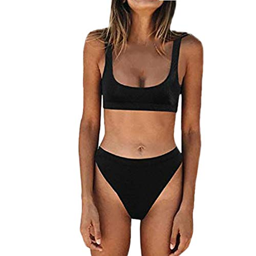 Tankini Traje de Baño Nuevo Mujer Maternidad Premamá para Mujer Punto Deportes Bañador de Dos Piezas Embarazada Bikini